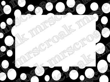 Labels: black & white polka dots, 10 per page
