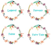 Cute Boho Floral Genre Labels for Classroom Library