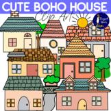 Cute Boho House Clip Art