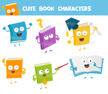 Cute Book Characters Collection