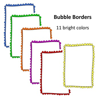 Cute Border with Bubbles