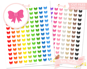 Cute Bow Printable Planner Stickers
