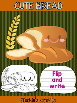 Cute Bread - Jackie's Crafts Activity, Writing, Fall and Autumn, Thanksgiving