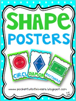 Cute Bright Colors Shape Posters