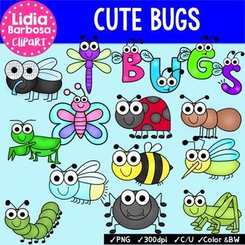 Cute Bugs Bundle {Clip Art for Teachers}