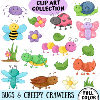 Cute Bugs Clip Art Collection (FULL COLOR ONLY)