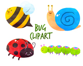 Cute Bugs Clipart, Ladybug Clipart, for personal and commercial