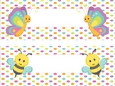 Cute Bugs Nametag Labels