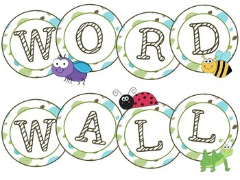 Cute Bugs- Word Wall Letters