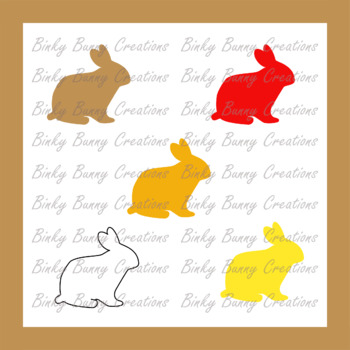 FREE Cute Bunny Rabbit Clip Art Clipart Spring Bunnies 10 Colours