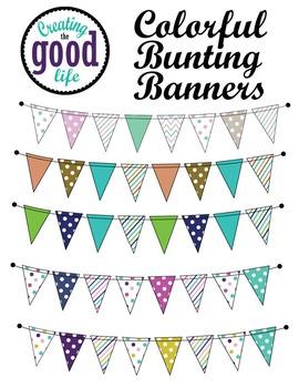 Cute Bunting Banners {Freebie}