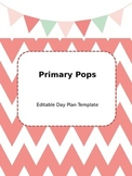 Day Plan Template (Cute! Bunting and Chevron Theme)