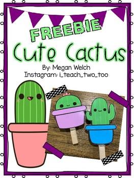 Cute Cactus Classroom Decor FREEBIE