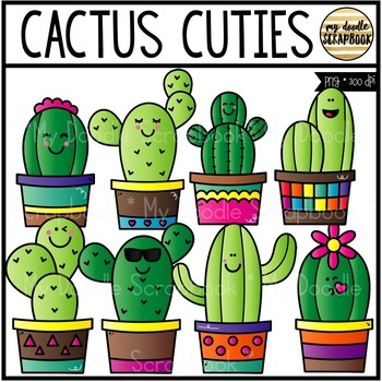 Cactus Cuties (Clip Art for Personal & Commercial Use)