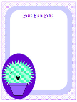 Cute Cactus Editable Labels and Name Plates