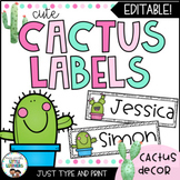 Cute Cactus Labels | Editable