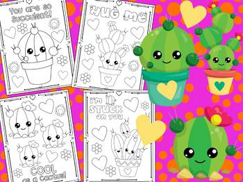 Cute Cactus Love and Birthday - The Crayon Crowd Coloring Pages, Succulent