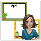 Cute Cactus / Succulent Birthday Calendar