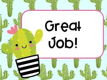 Cute Cactus Theme Classroom Bundle
