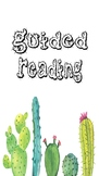 Cute Cactus Themed Binder Covers