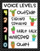 Cute Cactus Voice Level Chart