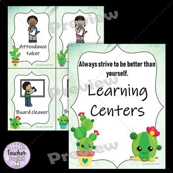 Cute Cactus-themed Classroom Decor and Set Up (Editable)