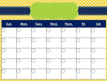 Cute Calendars - Set 2