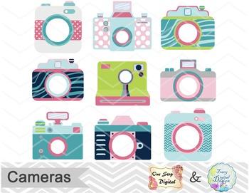 Cute Camera Digital Clip Art, Camera Clip Art, Photography Clip Art, 00153