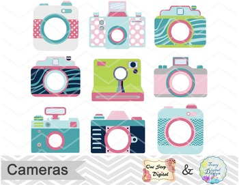 Cute Camera Digital Clip Art, Camera Clip Art, Photography