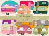 Cute Campers Vectors Clip Art, High Resolution, PNG & EPS Files.