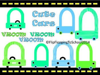 Cute Car Clipart for Commercial and Personal Use