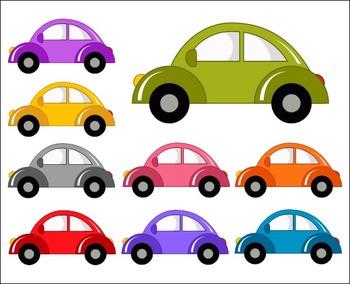 Cute Cars Clip Art Set