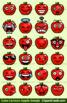 Cute Cartoon Apple Emoji Clipart Faces / Red Apple Clipart Emojis Emotions