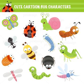 Cute Cartoon Bug Collection