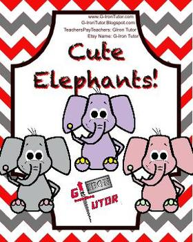Cute Cartoon Clip Art Elephants