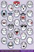 Cute Cartoon Ghost Emoji Clipart Faces / Ghost Halloween Emojis Emotions