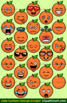 Cute Cartoon Orange Emoji Clipart Faces / Orange Fruit Emojis Emotions