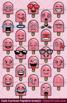 Cute Cartoon Popsicle Emoji Clipart Faces / Popsicle Treat Emojis Emotions