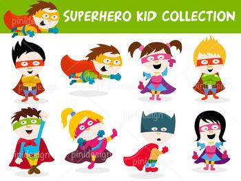 Cute Cartoon Superhero Kid Collection
