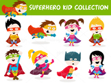Cute Cartoon Superhero Kid Collection