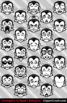 Cute Cartoon Vampire Emoji Clipart Faces / Dracula Halloween Emojis Emotions