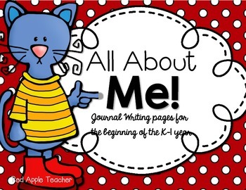 All About Me!--Cute Cat Back to School Writing {Journal for K-1}