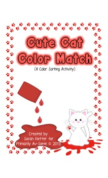 Cat Color Sorting Task (Velcro Tasks for Students w Autism)