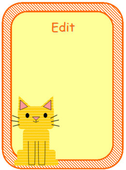 Cute Cat Labels and Name Plates - Fully Editable!
