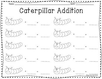 Cute Caterpillar Addition Center