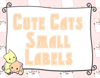 Cute Cats 6 Small Labels - Multipurpose - Editable!