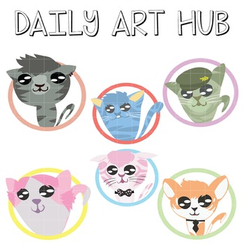 Cute Cats Clip Art - Great for Art Class Projects!