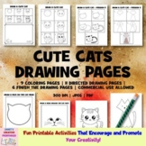 Cute Cats Drawing Pages - Commercial Use Allowed