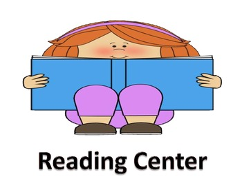 Cute Center Signs (Math, Science, Writing, Listening, and Reading)