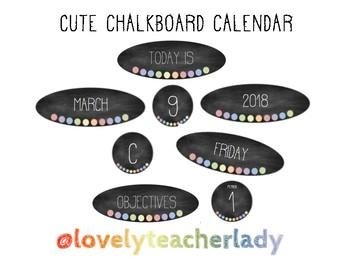Cute Chalkboard Calendar